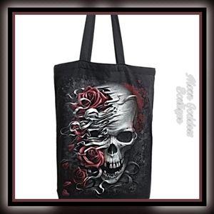 SKULLS N' ROSES - Bag 4 Life Canvas 80z Tote Bag
